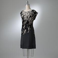Brushstroke Sheath Dress