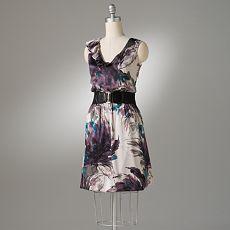 Watercolor Ruffled Dress