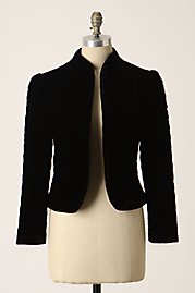 anthro quilted velvet jacket