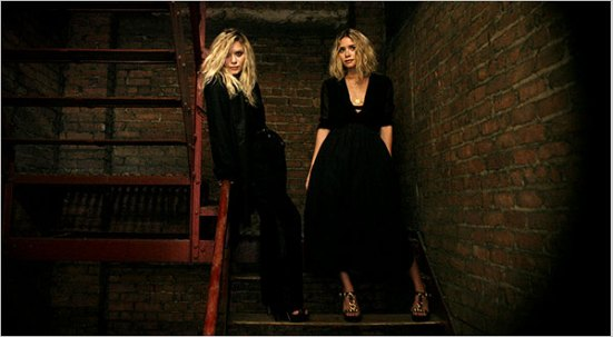 The Olsen Twins - in their signature color, black