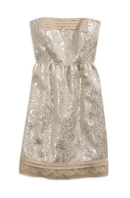 AE Brocade Strapless Dress