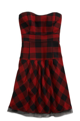 AE Buffalo Check Sweetheart Dress