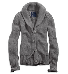 AE Cable Knit Cardigan Jacket