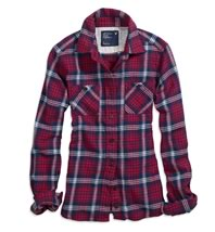 AE Shrunken Bonfire Flannel Shirt2