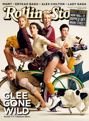 Glee takes cover on the latest issue of the Rolling Stone – featuring Dianna